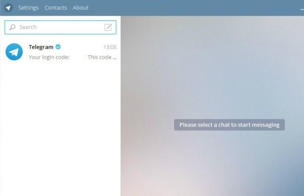 Начальный экран Telegram