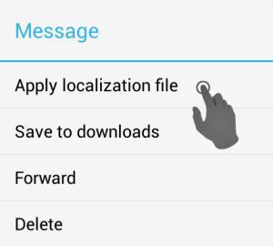 Нажимаем применить файл локализации Telegramm