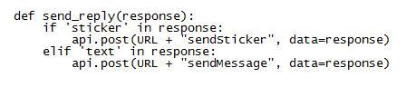 Объект Message не включает в себя текст, поэтому меняем send_reply