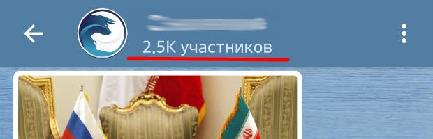 Количество участников канала телеграмм