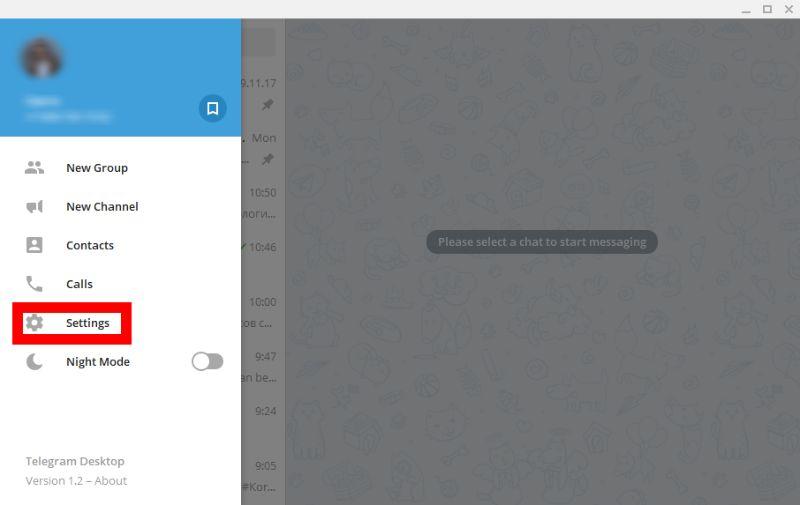 telegram online mode