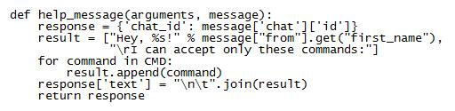 Учим программу константам /start и /help