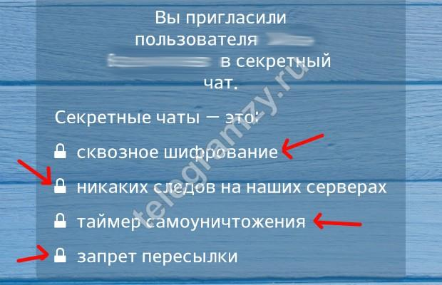 Особенности секретных чатов в Телеграмм