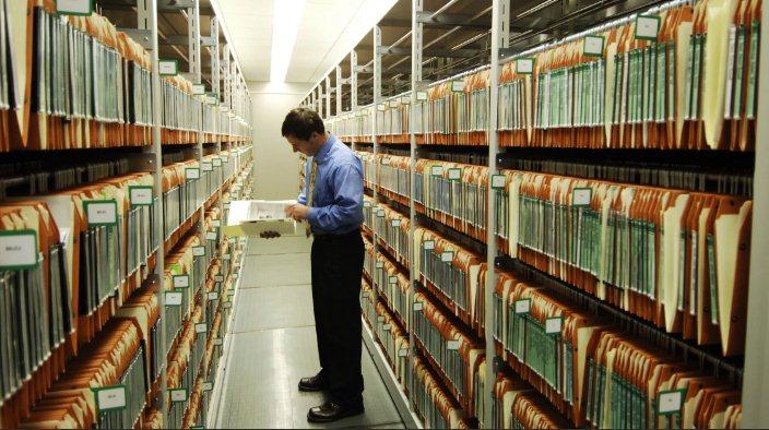 Работа городского архива